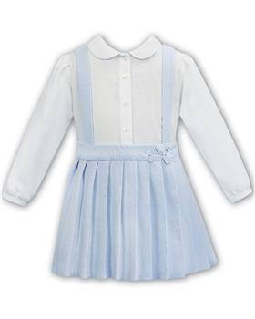 Sarah Louise blouse & knitted skirt 012081-20 Blue
