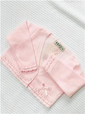 A&J Girls Knitted Cardigan AJ119-18 Pink