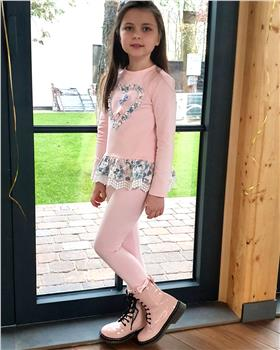 Daga girls frilled tunic top & legging M7906-7907-20
