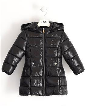 I Do girls black wet look puffa winter coat 41342-20 Black