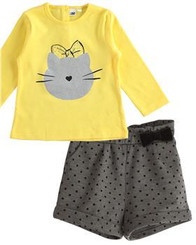 I Do girls top & shorts 41616-41685 Yellow