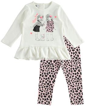 IDO girls leopard print legging set 41600-20