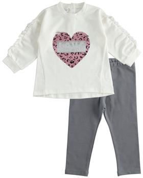 IDO leopard print heart legging set 41601-20