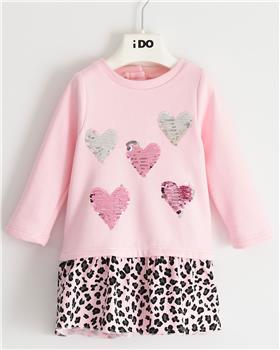 I Do girls long sleeved knitted dress 41630-20 Pink