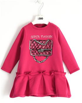I Do girls knitted dress with sleeves 41636-20 Pink
