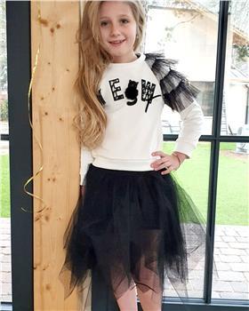 Daga girls cat top & net skirt M8057-8060-20
