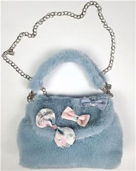 Daga girls faux fur blue bag M8016