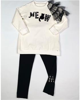Daga tunic MEOW top with cat & legging M8065-8063-20