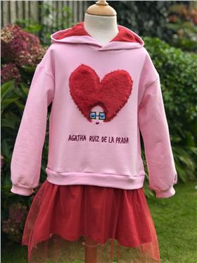 Agatha Ruiz Pink/red fluffy heart dress 7VE3368-20