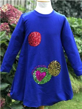 Agatha Ruiz blue sequin circle dress 7VE3379-20 *