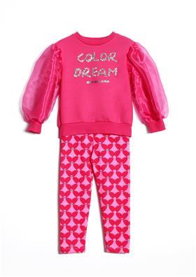 Agatha Ruiz Girls chiffon sleeve top & legging 7SS3001-7CC2792
