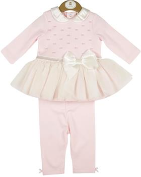 Mintini baby girls dress & leggings MB4350-20 Pnk