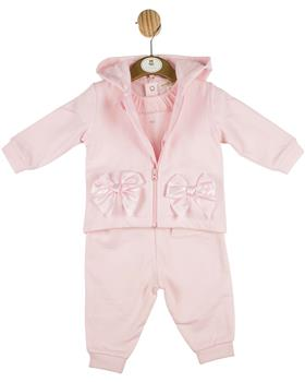 Mintini baby girls top-trouser & jacket MB4352-20 pink