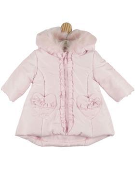 Mintini girls padded heart pocket coat MB4442-20 Pink