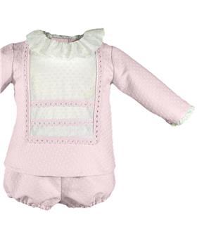Miranda baby girls tunic top & pantie 28-0024-23 Pink
