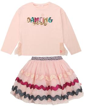 Billieblush dancing top & sparkly net skirt U15800-U13260