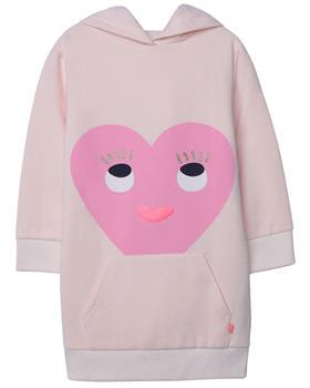 Billieblush Girls Pale Pink Heart Face Jumper Dress U12581-20