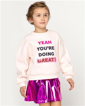 Billieblush girls pale pink sweatshirt & purple skirt U15781-13257