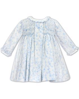 Sarah Louise Ivory/Blue floral dress 012076-20
