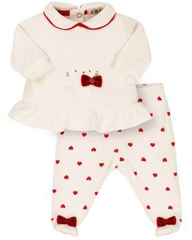 EMC baby girls heart top & footsie CO2690-20