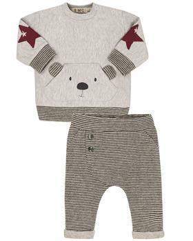 EMC baby boys pale grey teddy jogsuit CO2713-20
