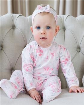 Emile et Rose baby girl sleepsuit floral & lace 1908pp Tallulah