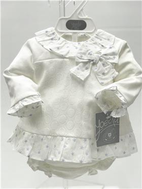 Yoedu baby girls dress & knicks 2044-20 Blue