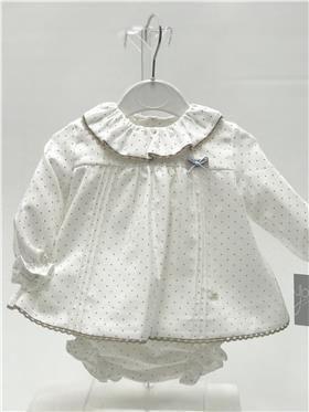 Yoedu baby girls dress & knicks 2056-20 Chocolate