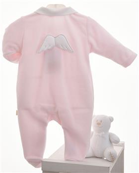 Baby Gi pink velour angel wing babygrow BG53LAR-PK