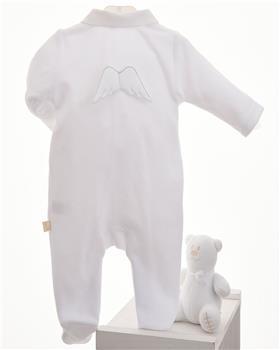 Baby Gi white velour angel wing babygrow BG53LAB-WH