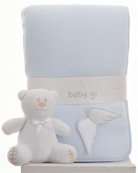 Baby Gi blue velour blanket BG60AAS-BL