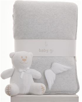 Baby Gi grey velour blanket BG60ACS-GREY