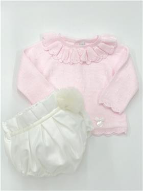 Martin Aranda baby girls jumper & jam pant 010-30013 pink