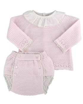 Martin Aranda baby girls jumper & jam pant 010-10001 pink