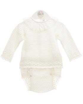 Martin Aranda baby girls jumper & jam pant 010-10001 cream