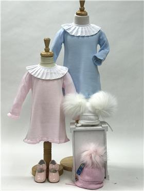 Aurea Baby Girls Knitted Dress 5393616 BLUE