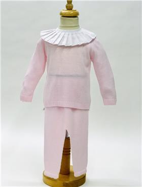 Aurea Baby Girls Knitted Jumper & Trouser 5393602 PINK
