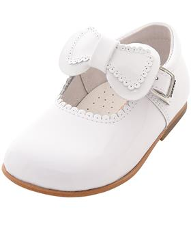 Andanines girls Mary Jane shoe 182802 White patent