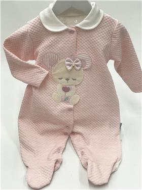 Baby NoNo baby girls mouse sleepsuit 2093-20 Pink