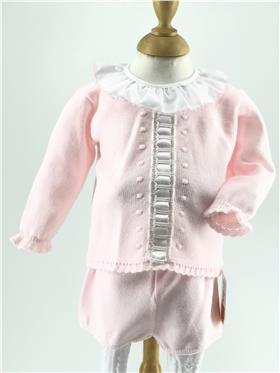 Granlei baby girls jumper & short 2-1216S-17 Pink