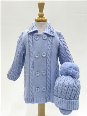 Blue Prince Baby Boys Coat Cardigan & Hat