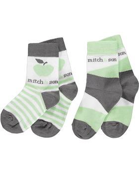 Mitch & Son boys socks MS21314 green