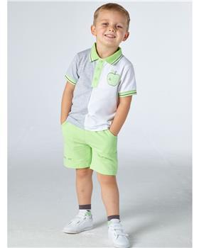 Mitch & Son boys polo & shorts MS21303-308 Green