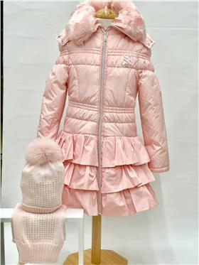 S&D Le Chic Girls Coat C5075221 Pink