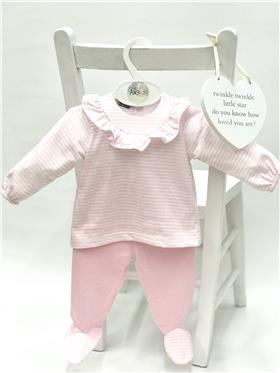 Babidu baby girls top & footsie 53256 Pink