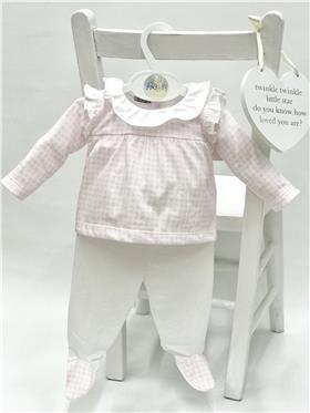 Babidu baby girls top & footsie 57250 Pink