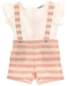 Babidu baby girls blouse & short dungaree 44599 Pink