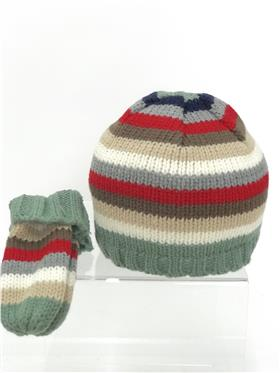 Petit Cadeau baby boys hat & mitts 7W625 Green
