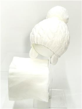 Martin Hat & Scarf set CANDY FLOSS White