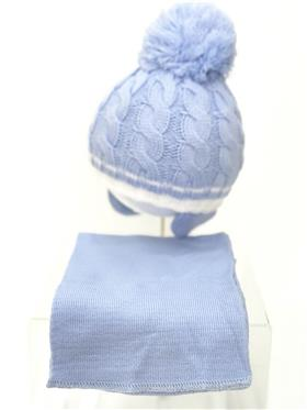 Martin Hat & Scarf set CANDY FLOSS Blue
